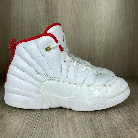 Nike Kids Air Jordan Retro 12 XII FIBA Shoes 1Y